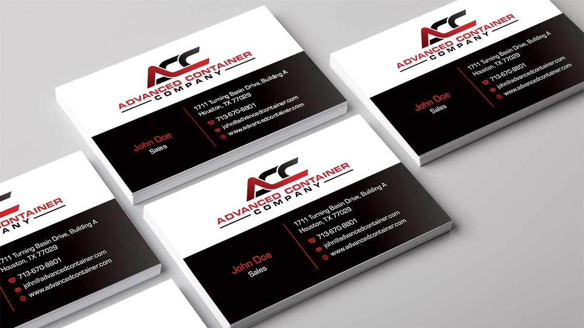 Portfolio, Advanced Container Co Business Cards