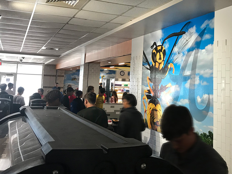 Alvin High School Cafeteria Murals