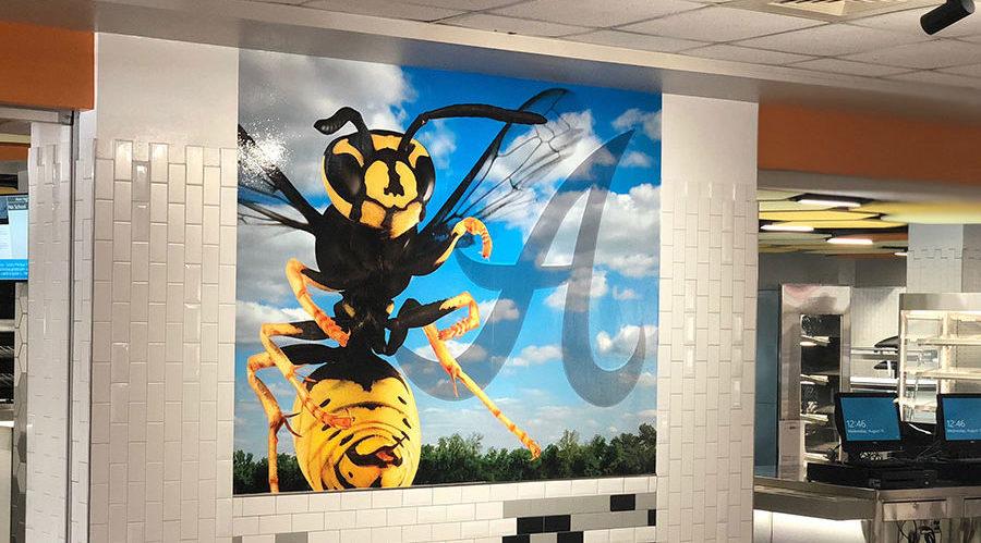 Portfolio, Alvin HS Cafeteria Mural