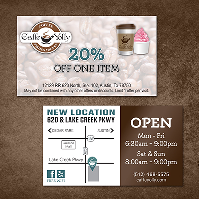 Caffe Yolly Coupon Card