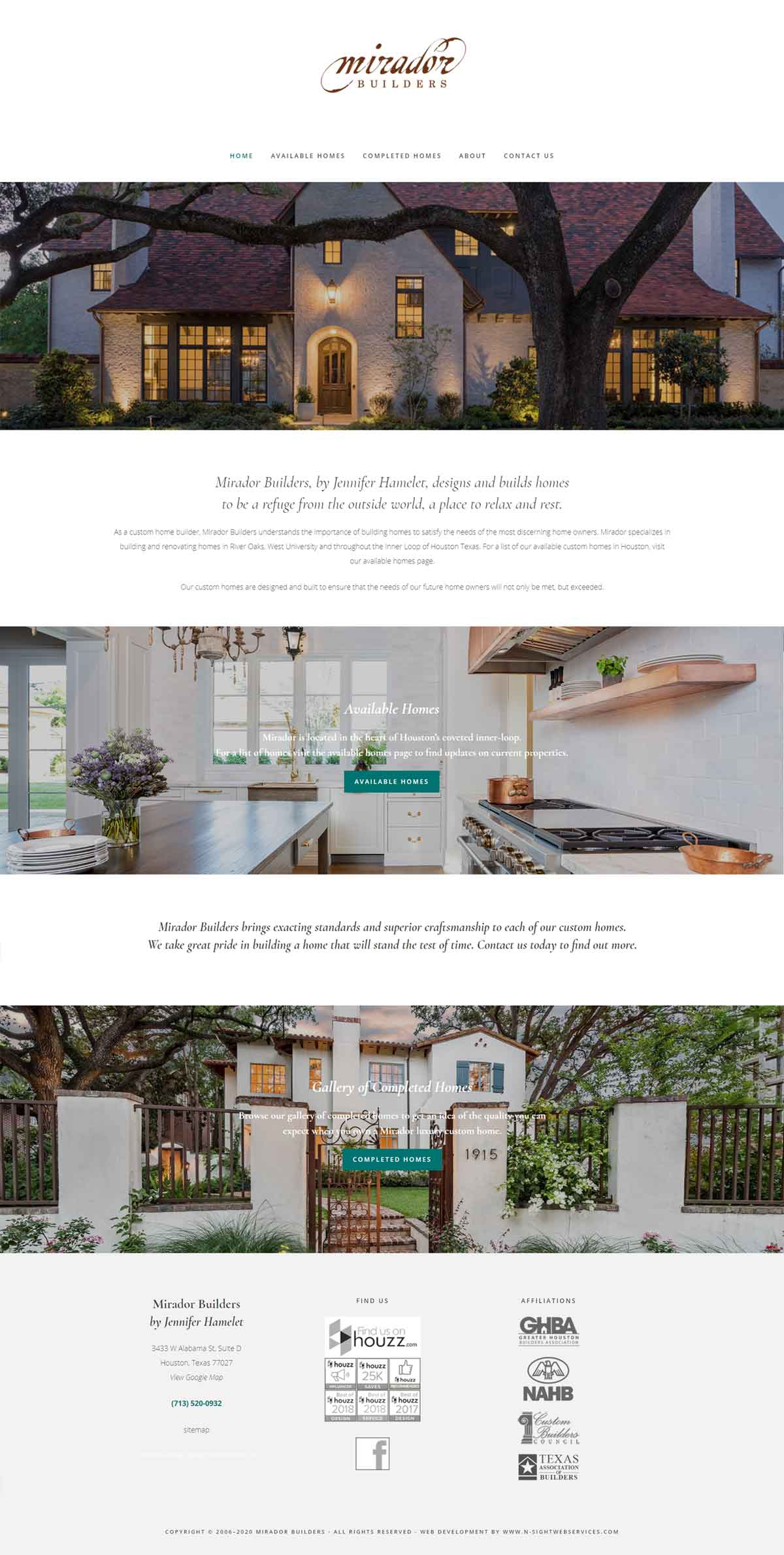 Mirador Builders Home Page