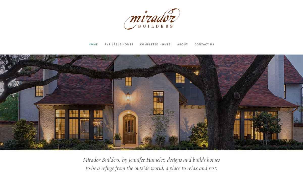 Portfolio, Mirador Builders