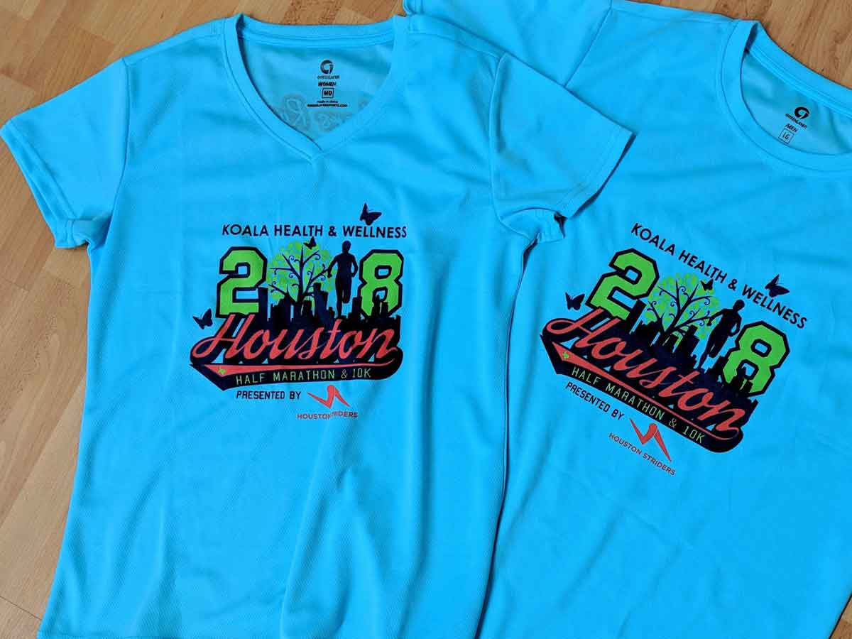 2018 Houston Half Marathon shirts