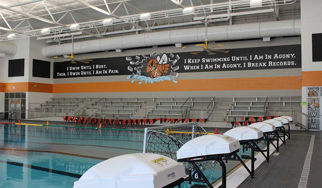 portfolio, Alvin High School Natatorium Digital Murals
