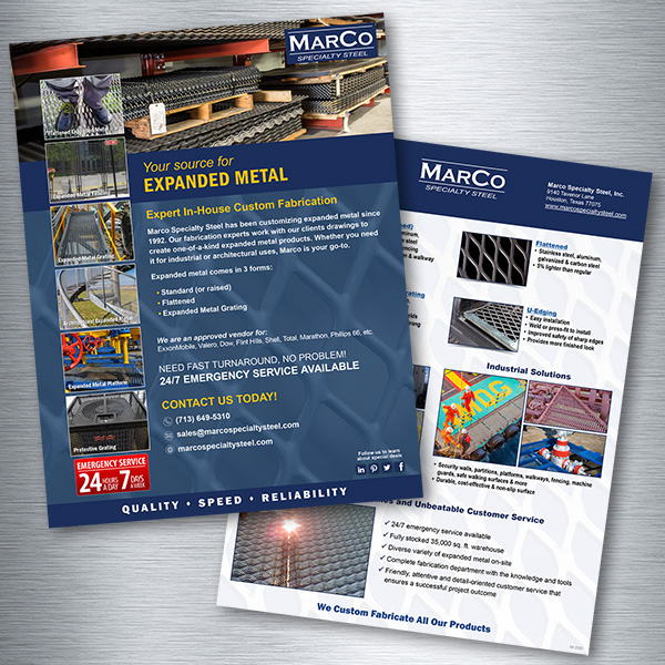 Marco Specialty Steel Sales Sheet