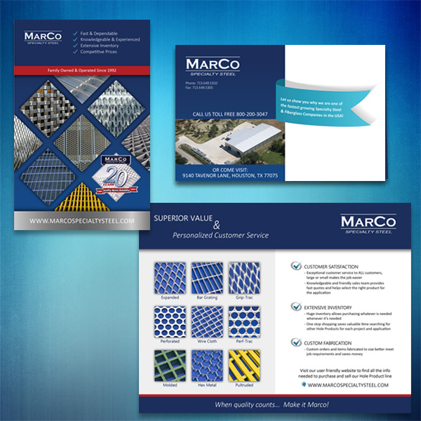 Marco Specialty Steel postcard sample