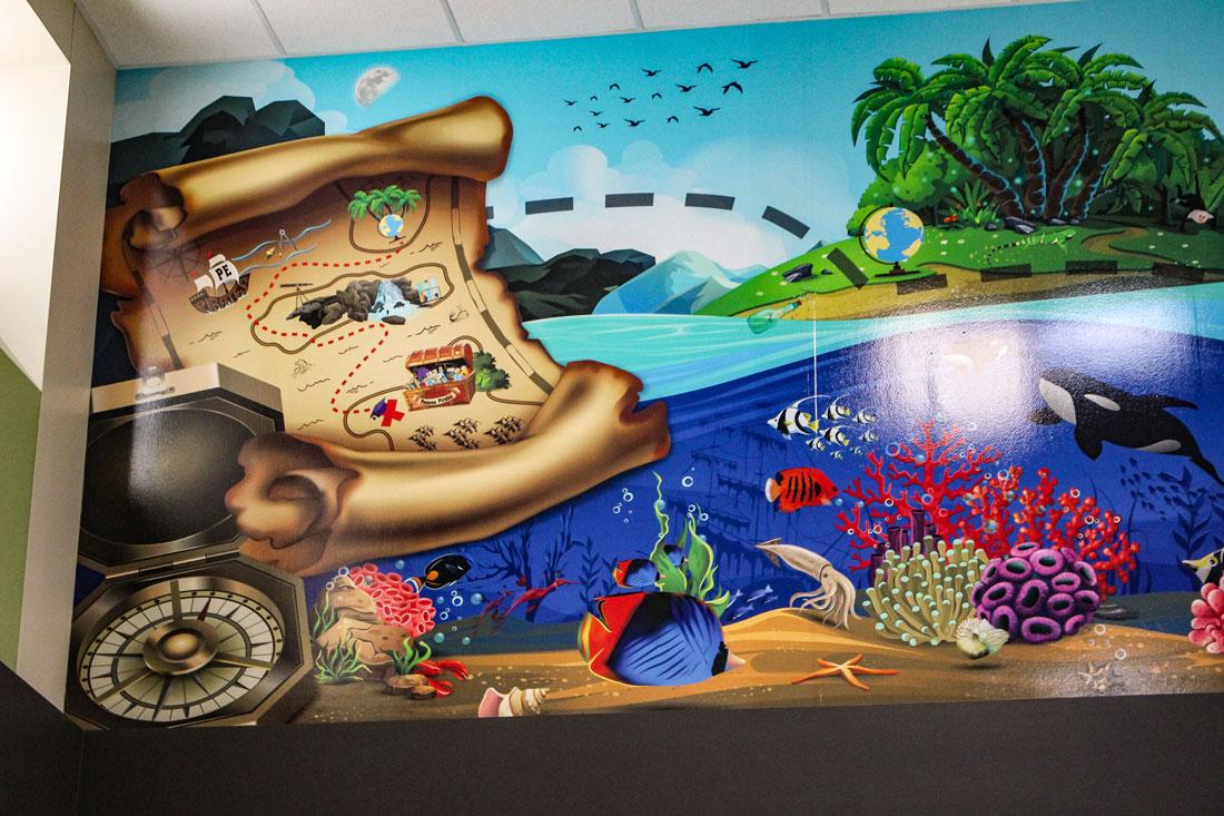 Pomona-Pirates-Mural-Detail