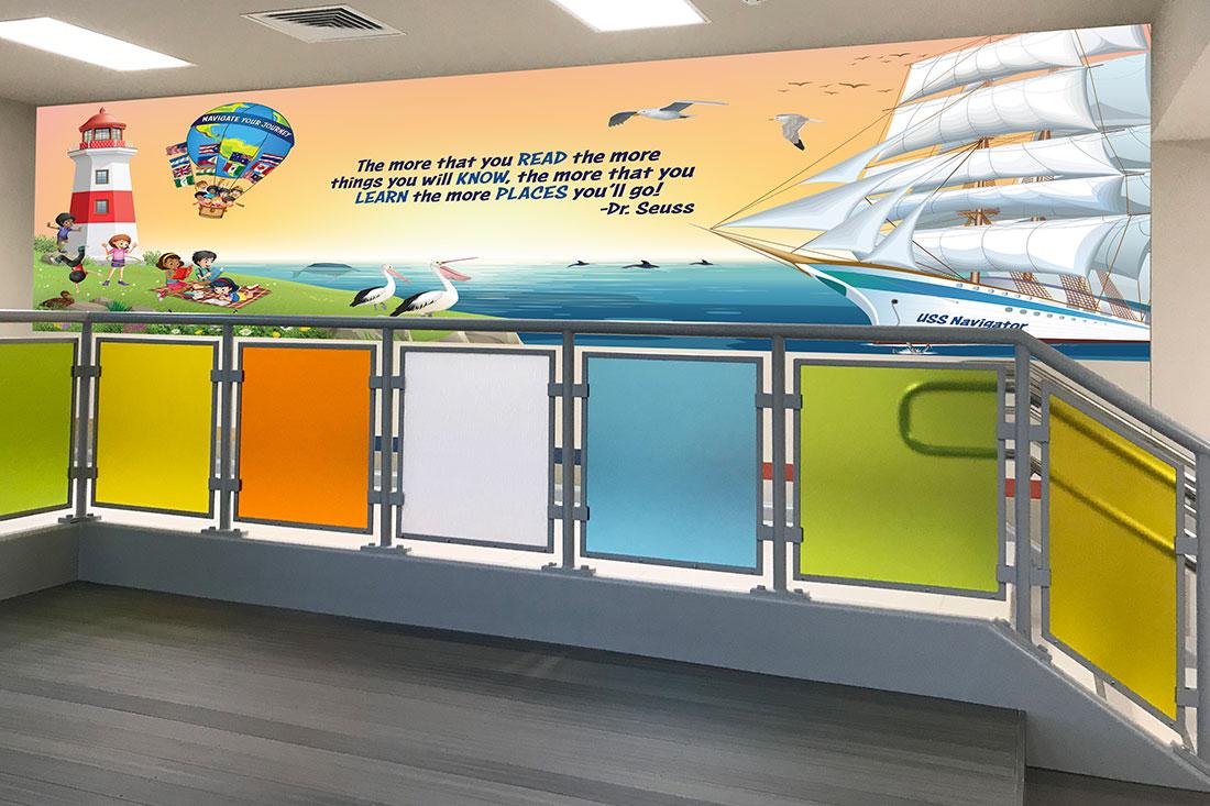 Sanchez Elementary School Murals